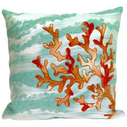Liora Manne Visions III Coral Wave Square Pillow
