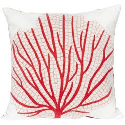 Liora Manne Visions III Coral Fan Square Pillow