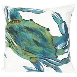 Liora Manne Visions III Blue Crab Square Pillow