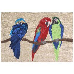 Liora Manne Frontporch Parrots Accent Rug