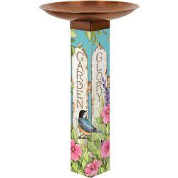 Studio M Garden Glory Birdbath with Copper Plated