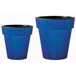 Studio M Blue Ceramic Glaze Art Planter Set