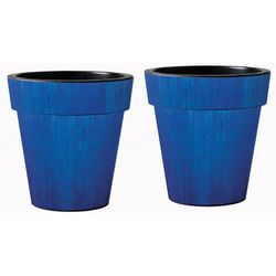 Studio M Blue Ceramic Glaze 18'' Art Planter