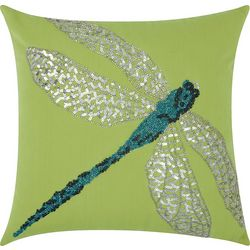 Mina Victory Bead Dragonfly Outdoor Throw Pillow
