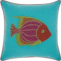 Mina Victory Beaded Fish Outdoor Throw Pillow