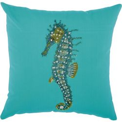 Mina Victory Beaded Seahorse Outdoor Throw Pillow