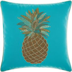 Mina Victory Beaded Pineapple Outdoor Throw Pillow