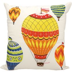 Mina Victory Hot Air Balloons Outdoor Throw Pillow