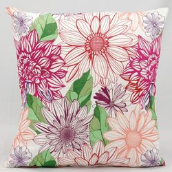 Mina Victory Fantasy Flower Outdoor Throw Pillow