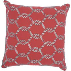 Mina Victory Woven Ropes Outdoor Throw Pillow
