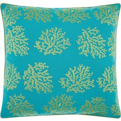 Mina Victory Coral Outdoor Throw Pillow