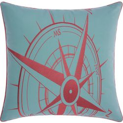 Mina Victory Compass Outdoor Throw Pillow