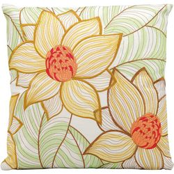 Mina Victory Two Sunflowers Outdoor Throw Pillow