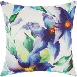 Mina Victory Watercolor Lily Outdoor Pillow