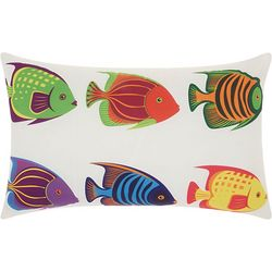 Mina Victory Six Tropical Fish Outdoor Pillow