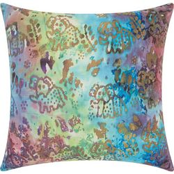 Mina Victory Watercolor Elephant Outdoor Pillow