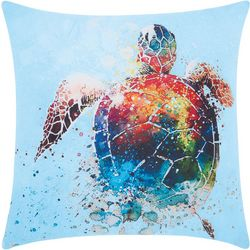 Mina Victory Watercolor Sea Turtle Outdoor Pillow