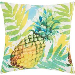 Mina Victory Watercolor Pineapple Outdoor Pillow