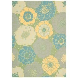 Nourison Home & Garden RS019 Green Area Rug