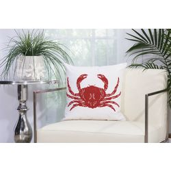 Mina Victory Beaded Crab Outdoor Throw Pillow
