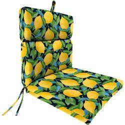 Jordan Manufacturing Citrus Sapphire Chair Cushion