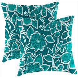 Jordan Manufacturing 2-pk. Halsey Seaglass Outdoor Pillow