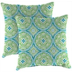 Jordan Manufacturing 2-pk. Besetta Seaglass Outdoor Pillow