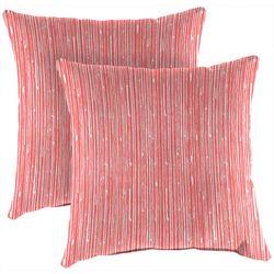 Jordan Manufacturing 2-pk. Scribble Coral Outdoor Pillow Set