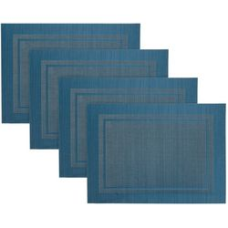 Imperical Collection 4-pc. Border Woven Vinyl Placemats Set