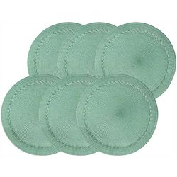 Benson Mills 6-pc. Braided Edge Round Placemats Set