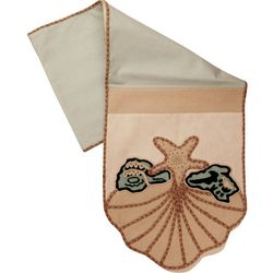 Leila's Linens Shell Applique Table Runner