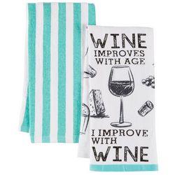 Homewear 2-pc. Improve With Wine Kitchen Towel Set