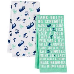 Homewear 2-pc. Lake Rules Kitchen Towel Set