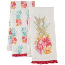 Coastal Home 2-pc. Pretty Pineapple Kitchen Towel Set