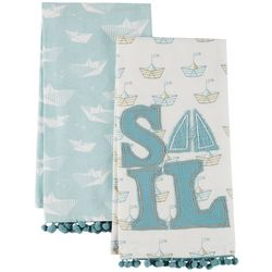 Coastal Home 2-pc. Sail Away Kitchen Towel Set