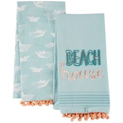 Coastal Home 2-pc. Beach House Kitchen Towel Set