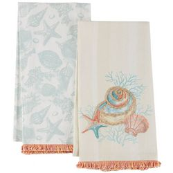 Coastal Home 2-pc. Shell Party Kitchen Towel Set