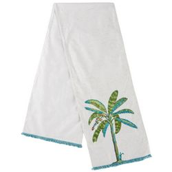 Coastal Home Palm Tree Shine Table Runner