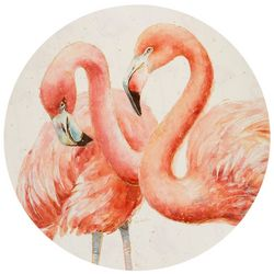 Counter Art Gracefully Pink Round Reversible Placemat