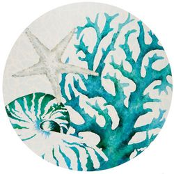 Counter Art Coral All Over Round Reversible Placemat