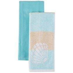 Lintex 2-pc. Sea Shell Jacquard Kitchen Towel Set