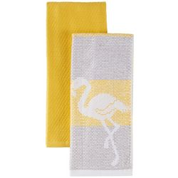 Lintex 2-pc. Flamingo Jacquard Kitchen Towel Set