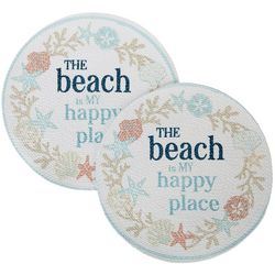 Table Trends 2-pc. Beach Is My Happy Place Placemat Set