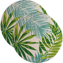 Table Trends 2-pc. Tropical Palm Bay Placemat Set