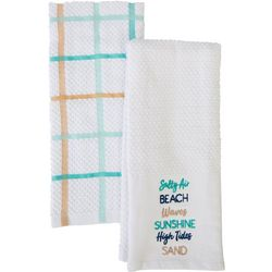 American Textile Co 2-pc. Beach Words Kitchen Towel Set