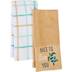 American Textile Co 2-pc. Nice To Sea You Kitchen Towel Set