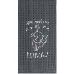 Kay Dee Designs Meow Waffle Kitchen Towel