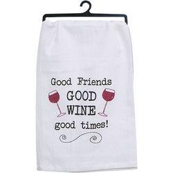 Kay Dee Designs Good Friends Good Wine Flour Sack Towel