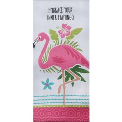Kay Dee Designs Embrace Your Inner Flamingo Tea Towel