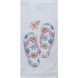 Kay Dee Designs Flip Flops Embroidered Flour Sack Towel